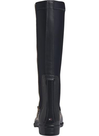 Tommy Hilfiger Kadın Materıal Mıx Long Raın Yağmur Çizmesi FW0FW03564 Renkli